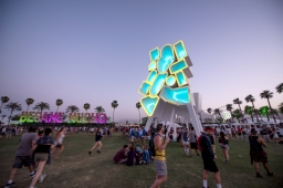 Tower of Twelve Stories art at Coachella, in Indio, CA, USA, on 15 April, 2016.