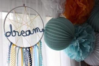 Attrape rêves mot en laine